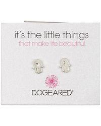 Dogeared   Sterling Silver 'it's The Little Things' Hamsa Hand Stud Earrings   Lyst