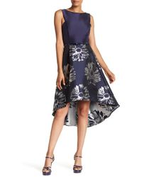 Donna Ricco - Sleeveless Belted Twofer Dress - Lyst