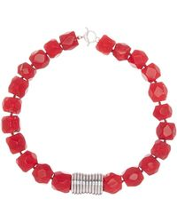 Simon Sebbag - Beaded Red Coral Hammered Charm Necklace - Lyst