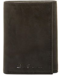 Ben Sherman - Manchester Leather Trifold Wallet - Lyst