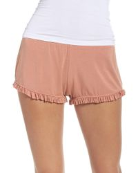 Olympia Theodora - Bae Ruffle Lounge Shorts - Lyst