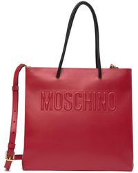 Moschino - Leather Tote - Lyst