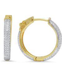 Sevil Jewelry - 18k Gold Plated Sterling Silver Hoop Earrings - Lyst