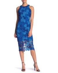 Alexia Admor - Floral Crochet Lace Midi Dress - Lyst