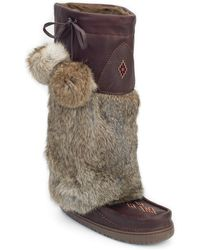 Manitobah Mukluks - Tall Grain Genuine Rabbit Fur Mukluk - Lyst