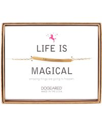 Dogeared - 14k Gold Plated Sterling Silver Life Is Magical Id Bar Bracelet - Lyst