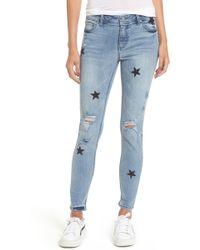 Tinsel   Star Embellished Skinny Jeans   Lyst