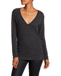 Go Couture - V-neck Side Tie Sweater - Lyst