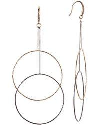 ABS By Allen Schwartz - Double Drop Ring Earrings - Lyst