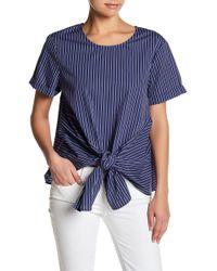 Lush - Short Sleeve Tie Waist Shirt - Lyst