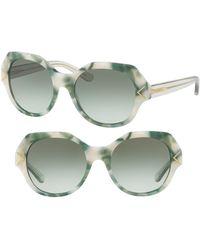 645f0f89712 Tory Burch - 53mm Gradient Geometric Sunglasses - Lyst