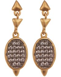 Freida Rothman - Contemporary Deco Cz Marquee Drop Earrings - Lyst