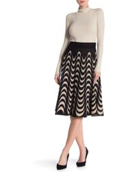 Lauren Hansen - Half Moon Knit Flared Skirt - Lyst