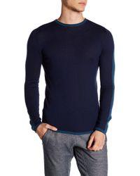 Parke & Ronen - Side Stripe Long Sleeve Sweater - Lyst