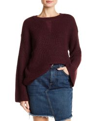 Romeo and Juliet Couture - Crew Neck Flare Sleeve Sweater - Lyst