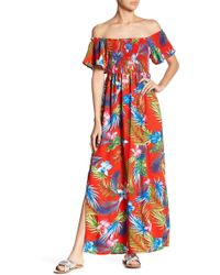 Romeo and Juliet Couture - Smocked Maxi Dress - Lyst