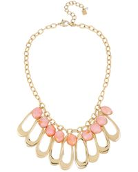 Robert Lee Morris - Oval Link & Orange Shell Bib Necklace - Lyst