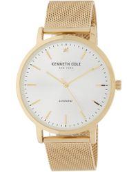 Kenneth Cole - Men's Diamond Accent Mesh Strap Watch, 42mm - Lyst