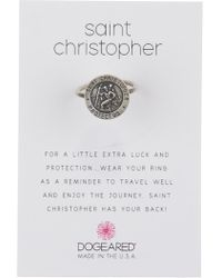 Dogeared - Sterling Silver Saint Christopher Ring - Lyst