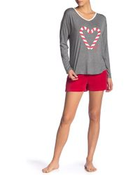 Juicy Couture - Pajama Top & Shorts Set - Lyst