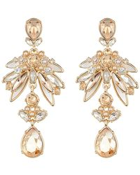 Givenchy - Faux Pearl Crystal Cluster Chandelier Earrings - Lyst