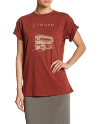 Michelle By Comune - London Bus Short Sleeve Tee - Lyst