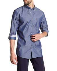 Ben Sherman - Chambray Dobby Print Regular Fit Shirt - Lyst