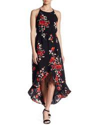 Soprano - Floral Hi-lo Midi Dress - Lyst