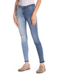William Rast - Distressed & Frayed Hem Skinny Jeans - Lyst