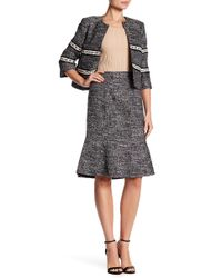 Ellen Tracy - Seamed Flounce Skirt - Lyst