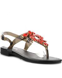 Cape Robbin - Omh Embellished T-strap Sandal - Lyst