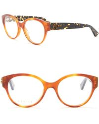 Gucci - 50mm Rounded Cat Eye Optical Frames - Lyst