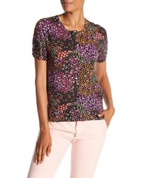Philosophy Apparel - Front Button Floral Print Cardigan - Lyst