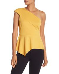 BCBGMAXAZRIA - One Shoulder Knit Top - Lyst
