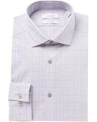 Calvin Klein - Slim Fit Stretch Steel+ Dress Shirt - Lyst
