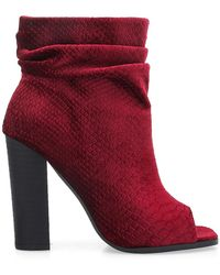 Privileged - Misha Peep Toe Boot - Lyst