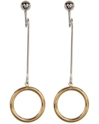 Argento Vivo - 18k Gold Plated Round Earrings - Lyst