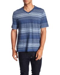 Flag & Anthem - Striped V-neck Tee - Lyst