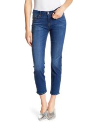 7 For All Mankind - Roxanne Cropped Ankle Jeans - Lyst