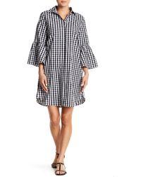 Beach Lunch Lounge - Kiya 3/4 Sleeve Ruffle Print Dress - Lyst