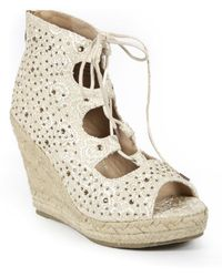 Catherine Malandrino - Bemecall Lace Embellished Wedge Heel - Lyst