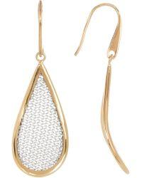 Adami & Martucci - Two-tone Woven Detail Teardrop Earrings - Lyst