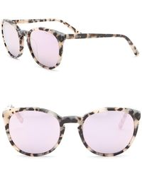 Ted Baker - 53mm Round Sunglasses - Lyst