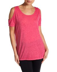 Marc New York   Synth Knit Cold Shoulder Tank   Lyst