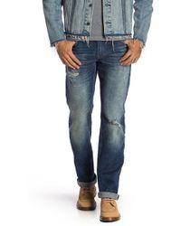 Hudson Jeans - Distressed Straight Leg Jeans - Lyst