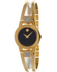 Movado - Women's Amorosa Diamond Accented Bracelet Watch, 24mm - Lyst