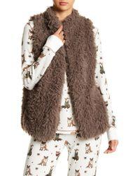 Pj Salvage - Faux Fur Open Vest - Lyst
