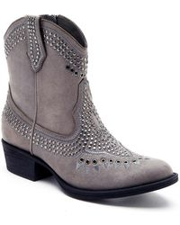 Matisse - Amour Faux Suede Western Ankle Boot - Lyst