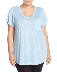Make + Model - 'gotta Have It' V-neck Tee (plus Size) - Lyst