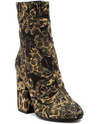 Ash - Flora Embossed Velvet Mid Boot - Lyst
